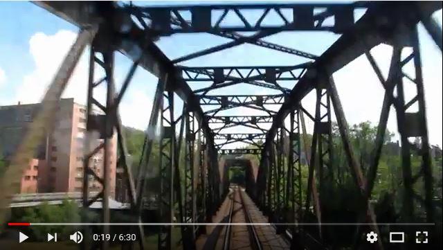 Výměna železničního mostu v Týnci nad Sázavou